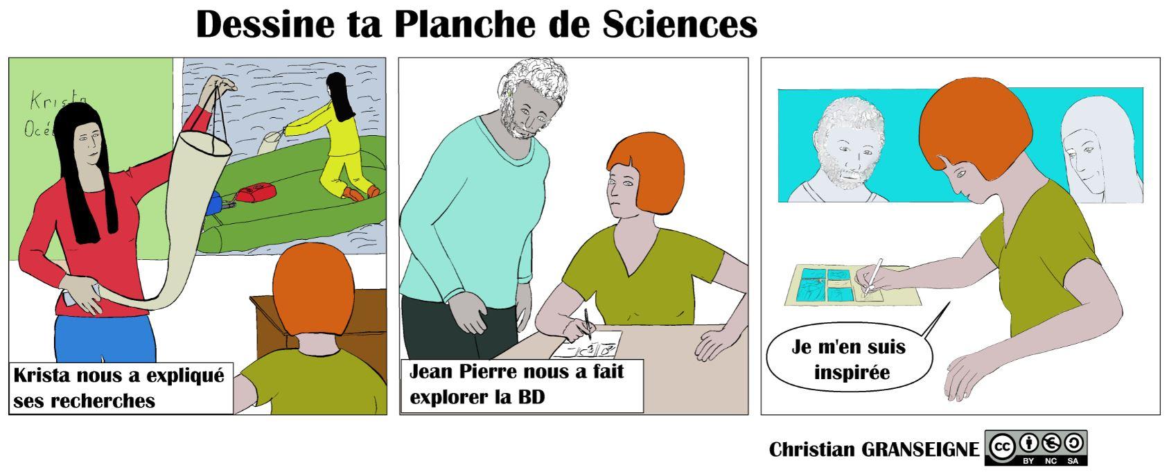 Présentation de la création d'une BD Planches de Sciences
